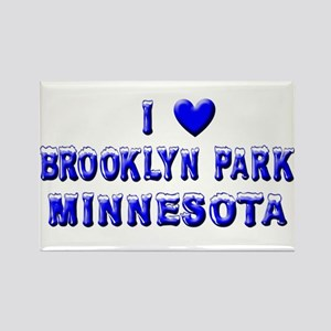I Love Brooklyn Park Winter Rectangle Magnet