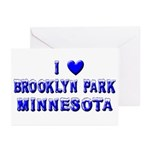 I Love Brooklyn Park Winter Greeting Cards (Pk of