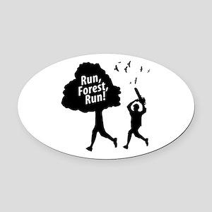 run forest run new  Oval Car Magnet