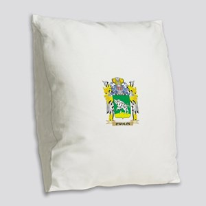 O'Hanlon Family Crest - Co Burlap Throw Pillow