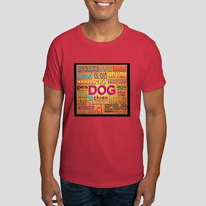 DOG in every language Dark T-Shirt