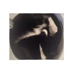 Cat in Sink Throw Blanket