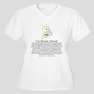 Rhode Island Women's Plus Size V-Neck T-Shirt
