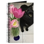 Cat with Tulips Journal