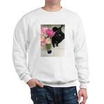 Cat with Tulips Sweatshirt
