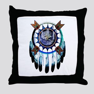 Indian Earth Throw Pillow