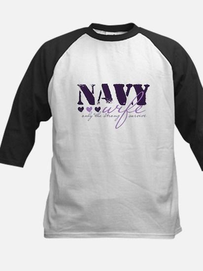 Navy Wife ... [purple] Kids Baseball Jersey