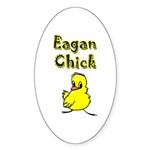 Eagan Chick Oval Sticker (10 pk)