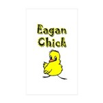 Eagan Chick Rectangle Sticker 50 pk)