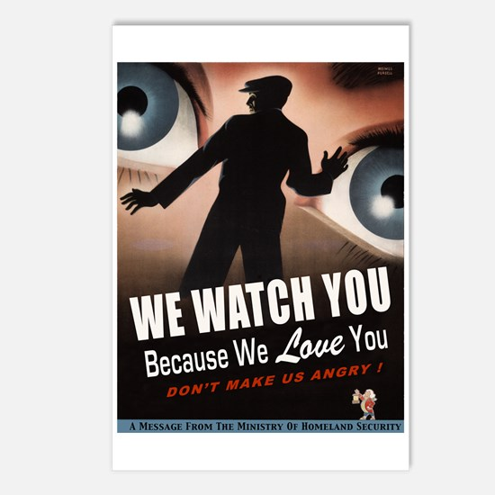 We Watch You Because We Love You Postcards (Packag