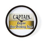 Eagan Beer Drinking Team Wall Clock