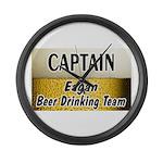 Eagan Beer Drinking Team Large Wall Clock
