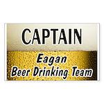 Eagan Beer Drinking Team Rectangle Sticker