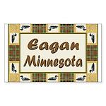 Eagan Loon Rectangle Sticker