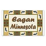 Eagan Loon Rectangle Sticker 10 pk)