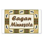 Eagan Loon Rectangle Sticker 50 pk)