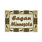 Eagan Loon Rectangle Magnet (10 pack)