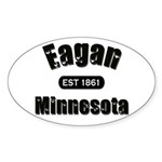Eagan Established 1861 Oval Sticker (10 pk)