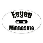 Eagan Established 1861 Oval Sticker (50 pk)