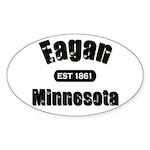 Eagan Established 1861 Oval Sticker