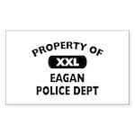 Property of Eagan Police Dept Rectangle Sticker 1