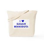 I Love Eagan Winter Tote Bag