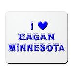 I Love Eagan Winter Mousepad