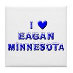 I Love Eagan Winter Tile Coaster