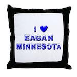 I Love Eagan Winter Throw Pillow