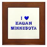 I Love Eagan Winter Framed Tile