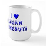 I Love Eagan Winter Large Mug