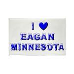 I Love Eagan Winter Rectangle Magnet
