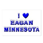 I Love Eagan Winter Postcards (Package of 8)