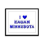 I Love Eagan Winter Framed Panel Print