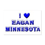 I Love Eagan Winter Mini Poster Print