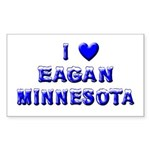 I Love Eagan Winter Rectangle Sticker