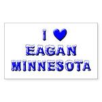 I Love Eagan Winter Rectangle Sticker 50 pk)