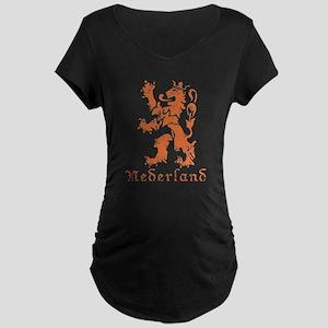 Netherlands - Lion - Orange Maternity Dark T-Shirt