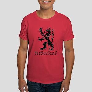 Netherlands - Lion - Black Dark T-Shirt