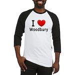 I Love Woodbury Baseball Jersey