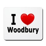 I Love Woodbury Mousepad