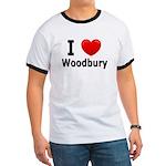 I Love Woodbury Ringer T