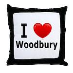 I Love Woodbury Throw Pillow