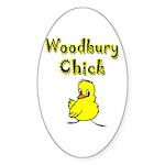 Woodbury Chick Oval Sticker (10 pk)