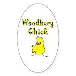Woodbury Chick Oval Sticker (50 pk)