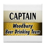 Woodbury Beer Drinking Team Tile Coaster
