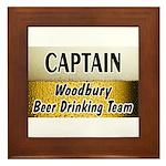 Woodbury Beer Drinking Team Framed Tile
