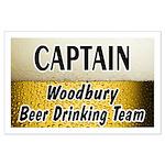 Woodbury Beer Drinking Team Large Poster