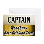 Woodbury Beer Drinking Team Greeting Card