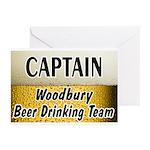 Woodbury Beer Drinking Team Greeting Cards (Pk of